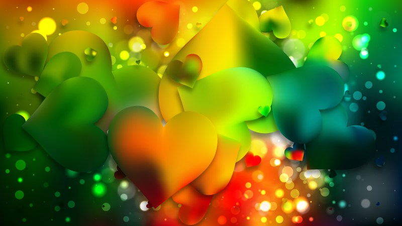 Colorful Heart Background Graphic