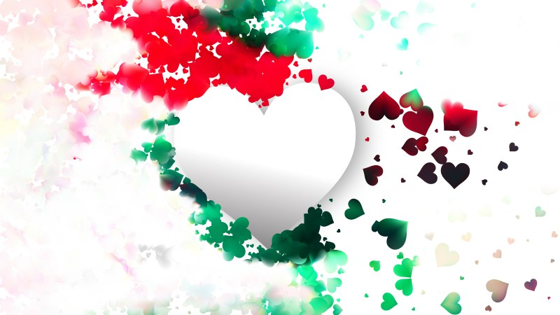 Colorful Valentines Day Background Design