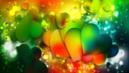 Colorful Valentines Background Image