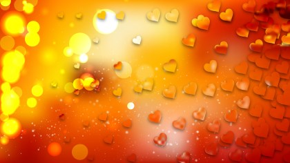 Red and Orange Heart Background Design