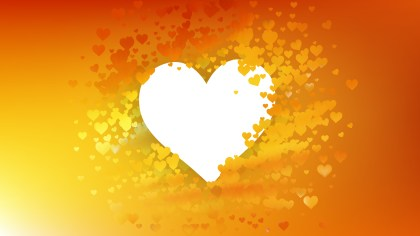 Orange and Yellow Heart Wallpaper Background Image