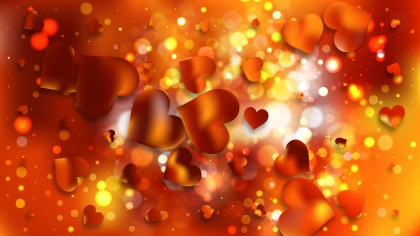 Red and Orange Valentines Day Background Vector Graphic