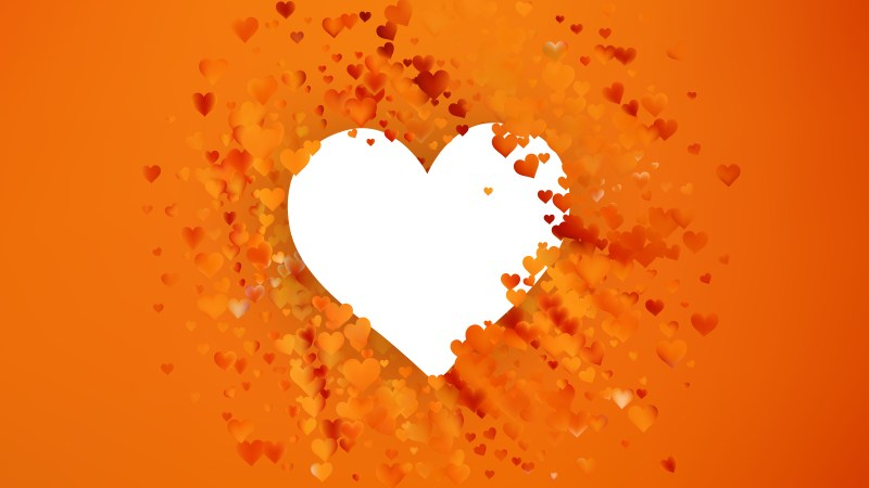 Orange Valentines Background Vector Image