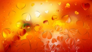 Red and Orange Valentine Background Illustrator