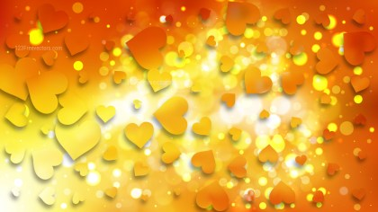 Red and Yellow Love Background Vector Illustration