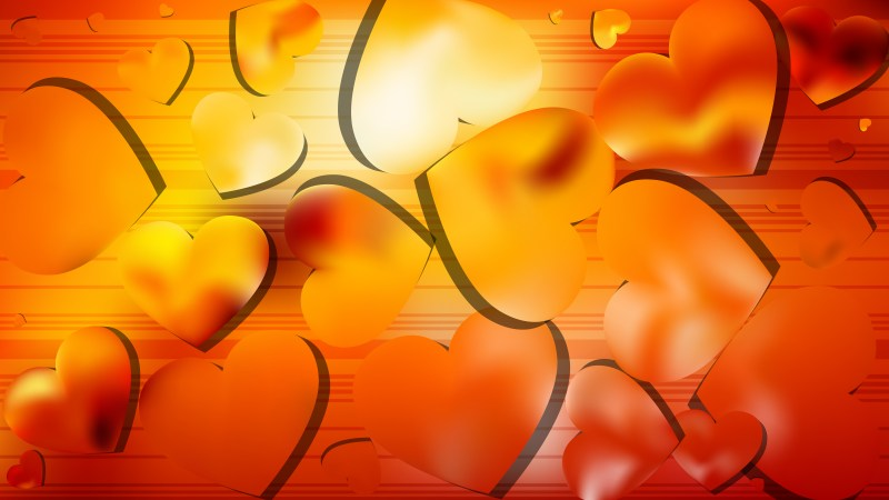 Red and Orange Love Background