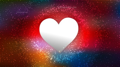 Dark Color Heart Wallpaper Background Vector Image