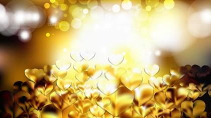 Gold Valentine Background Design