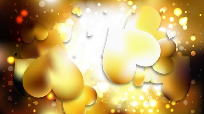 Gold Love Background Image