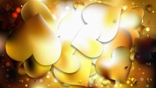 Gold Valentines Day Background