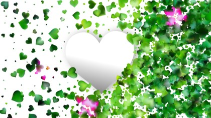 Green and White Love Background