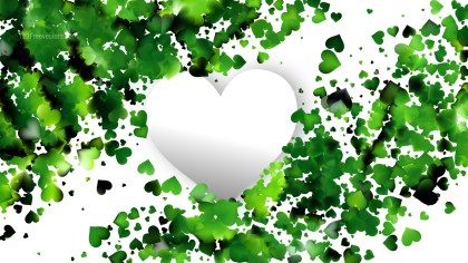 Green and White Valentines Day Background Design