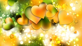 Green and Yellow Valentine Background Vector Graphic