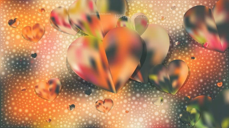 Green and Yellow Heart Background