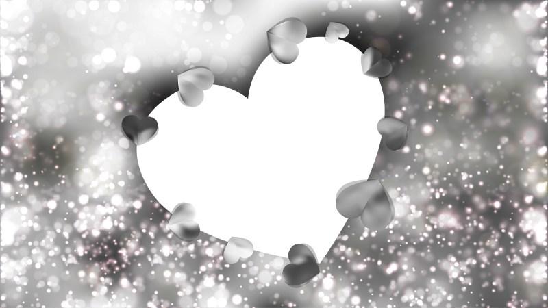 Grey Valentines Day Background