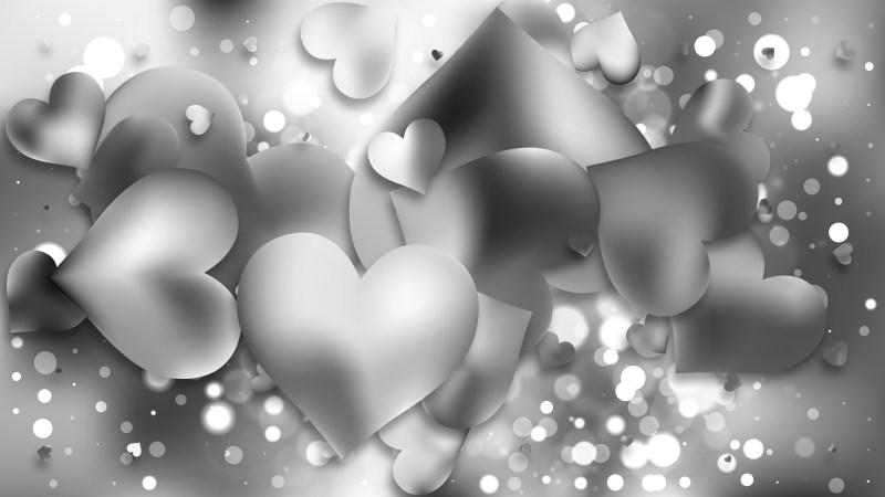 Grey Valentines Background