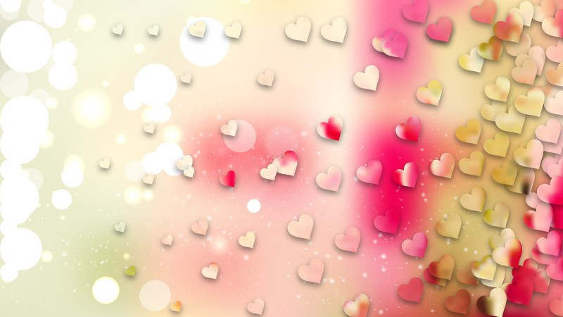 Light Color Valentine Background Vector Graphic