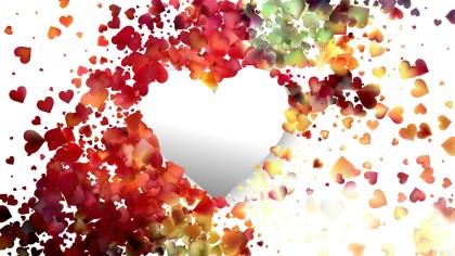 Light Color Heart Background Design