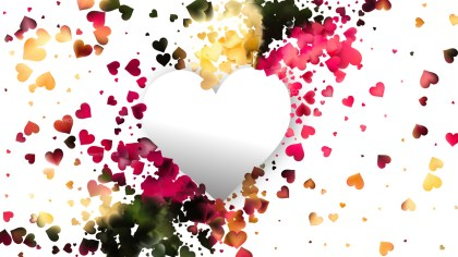 Light Color Heart Wallpaper Background Image
