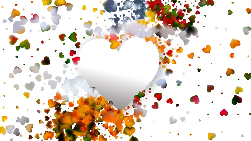 Light Color Valentines Background Vector Image
