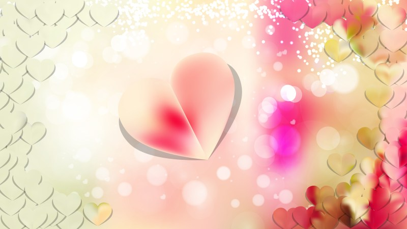 Light Color Valentines Day Background