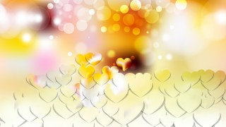 Light Color Heart Wallpaper Background Vector Image