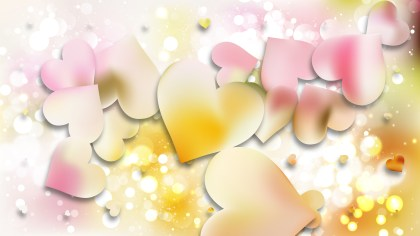 Light Color Heart Wallpaper Background Vector Illustration