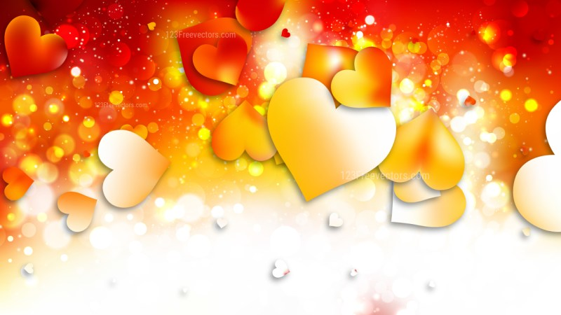 Light Orange Love Background Illustration