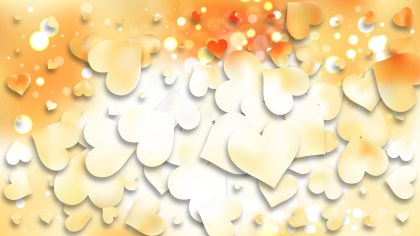Light Orange Heart Background