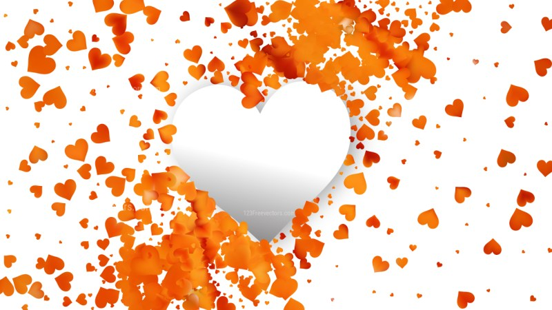 Light Orange Valentines Background