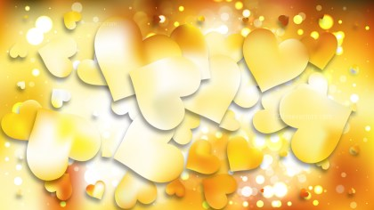 Light Orange Heart Wallpaper Background Vector Art