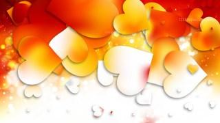 Light Orange Valentine Background Design