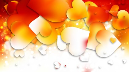 Light Orange Valentine Background Design