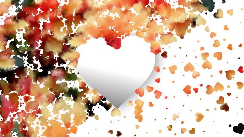 Light Orange Valentines Card Background