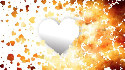 Light Orange Valentines Day Heart Background