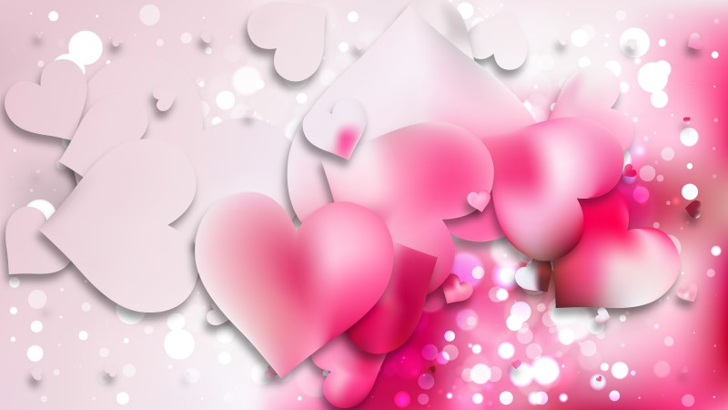 Light Pink Love Background