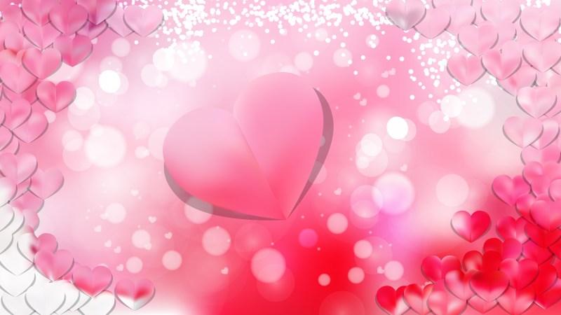 Light Pink Heart Background Illustrator