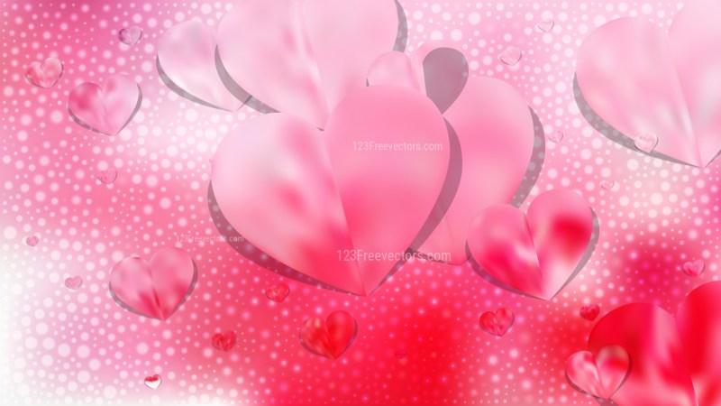 Light Pink Heart Wallpaper Background Vector Illustration