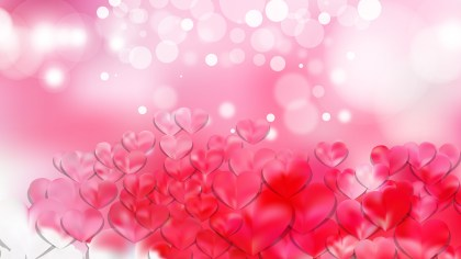 Light Pink Valentines Day Background Vector