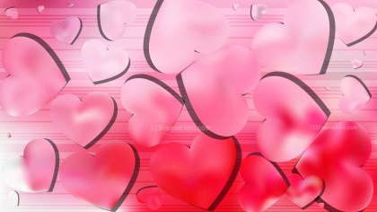 Light Pink Valentines Background Vector Art