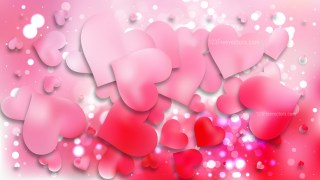 Light Pink Heart Background