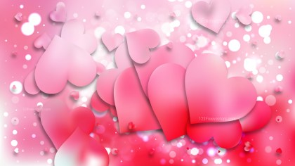Light Pink Heart Wallpaper Background