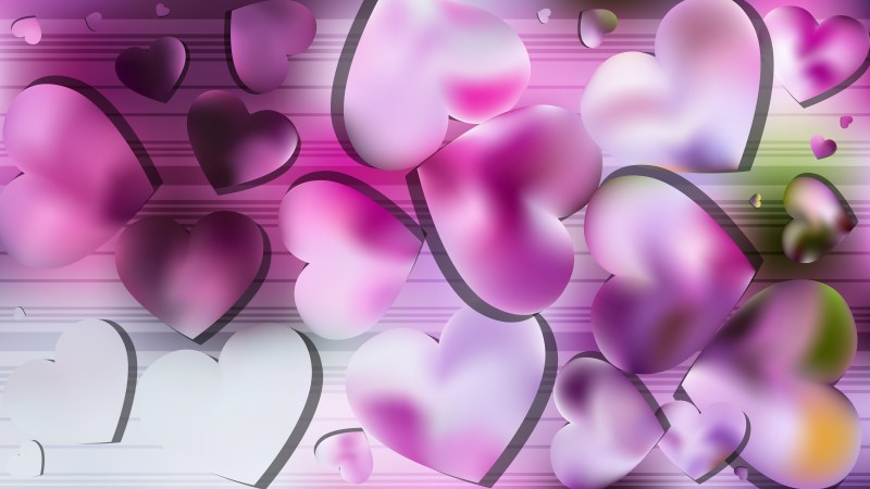 Light Purple Valentines Day Background