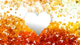 Orange Valentines Background Image