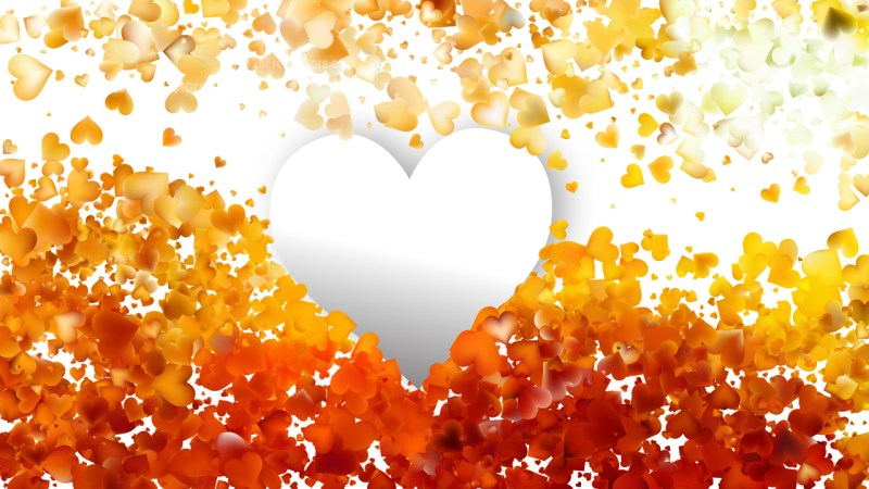 Orange Valentines Background Image