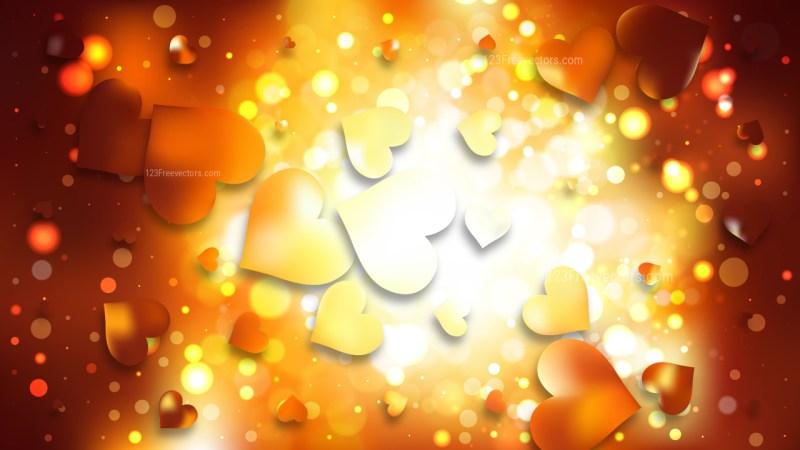 Orange Valentine Background Vector Graphic