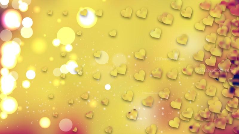 Orange Heart Wallpaper Background Image