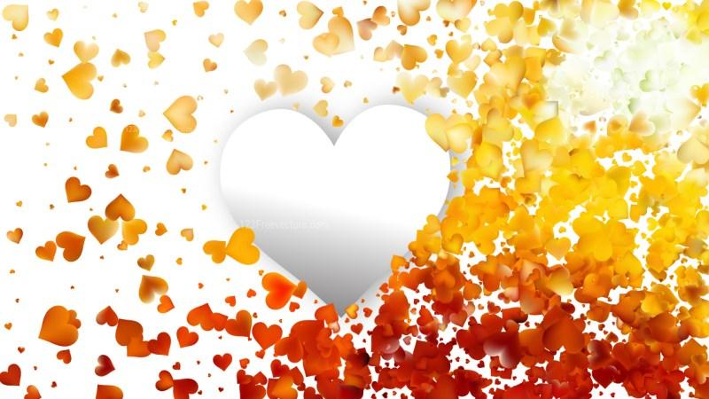 Orange Valentines Background Vector Image