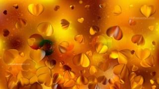 Orange Valentines Day Background