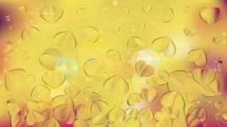 Orange Heart Wallpaper Background Vector Image